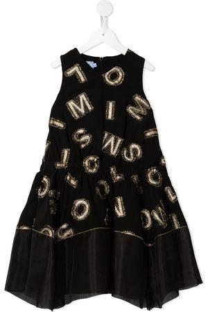 Mimisol Girls Dresses - Logo-patch sleeveless dress
