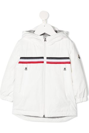Moncler Bomber Jackets - Stripe-embroidered zip-up jacket