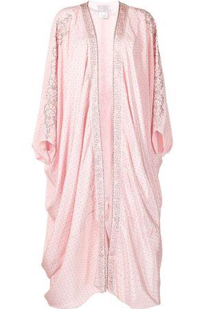 Camilla Women Ponchos & Capes - Crystal-embellished draped-design jacket