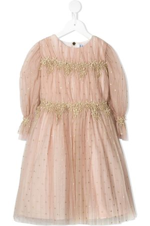 Lesy Floral-embroidered long-sleeve dress