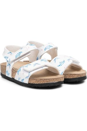 MONNALISA Boat-print touch-strap sandals