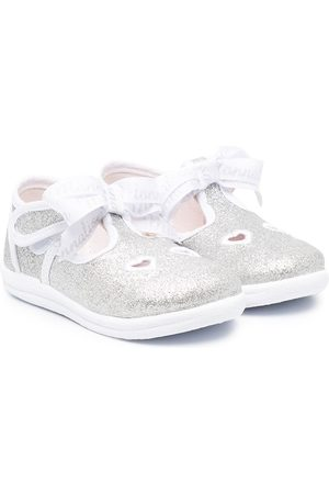 MONNALISA Glitter heart ballerina shoes