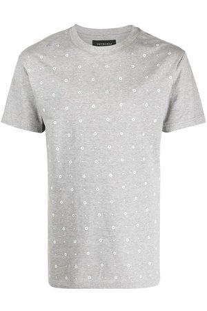Viktor & Rolf Men T-shirts - Eyelet cotton T-shirt - Grey