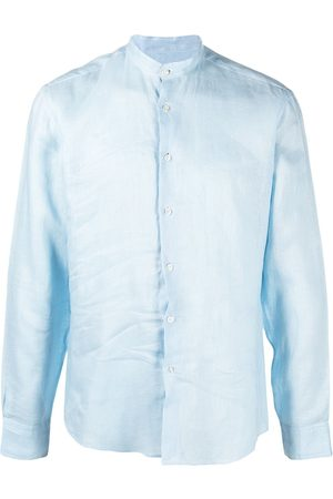 PENINSULA SWIMWEAR Men Shirts - Crinkled effect round neck shirt