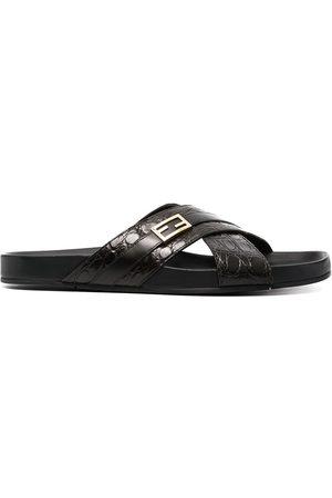 Fendi Men Sandals - Crossover strap sandals
