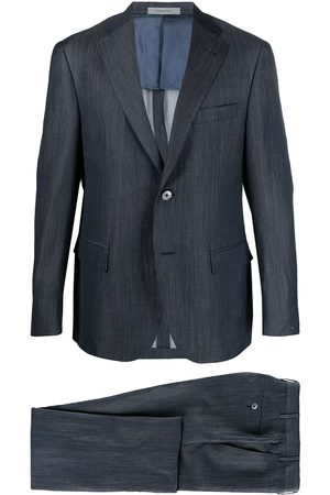 corneliani Men Suits - Two-piece linen-blend suit