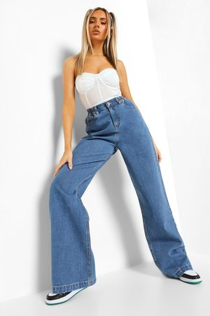 Boohoo Womens High Rise Baggy Jean - - 2