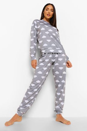 Boohoo Womens Cloud Print Lounge Set - - 2