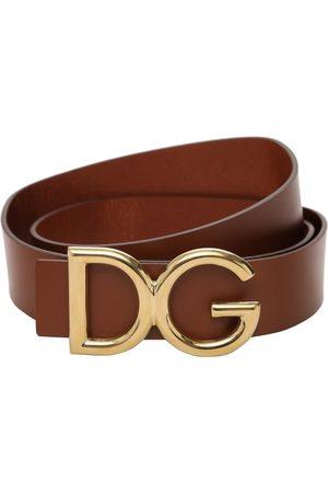 Dolce & Gabbana 35mm Dg Buckle Leather Belt