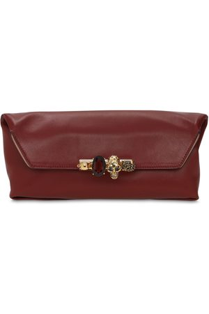 Alexander McQueen Women Clutches - Four Rings Soft Leather Pouch