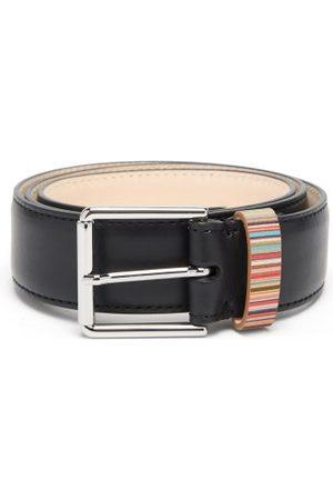 Paul Smith Men Belts - Signature Stripe Leather Belt - Mens - Multi