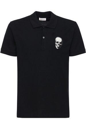 Alexander McQueen Skull Patch Cotton Piquet Polo