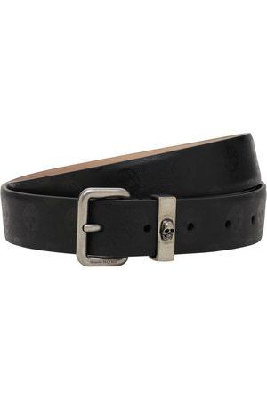 Alexander McQueen 30mm Skulls Leather Belt
