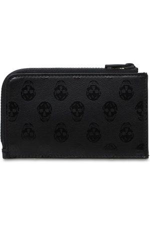 Alexander McQueen Skull Print Leather Zip Wallet
