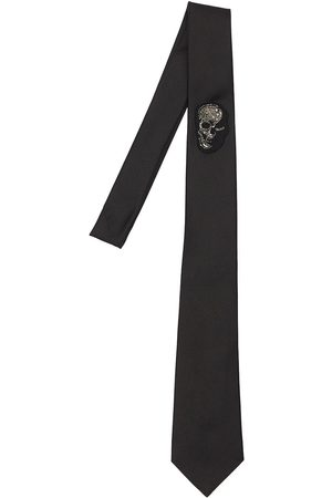 Alexander McQueen 50mm Skull Badge Silk Tie