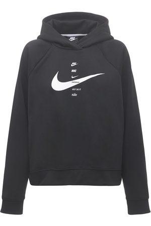 Nike Women Hoodies - Swoosh Print Sweatshirt Hoodie