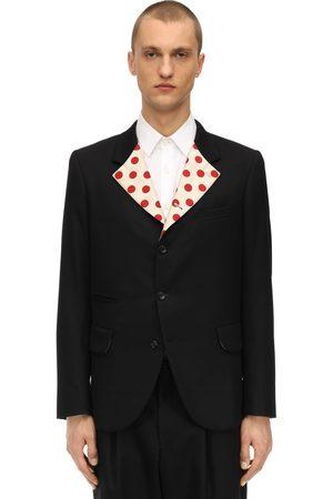 Comme des Garçons Wool Jersey & Silk Twill Jacket