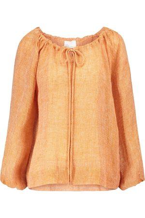 Lisa Marie Fernandez Wrap linen-blend midi skirt