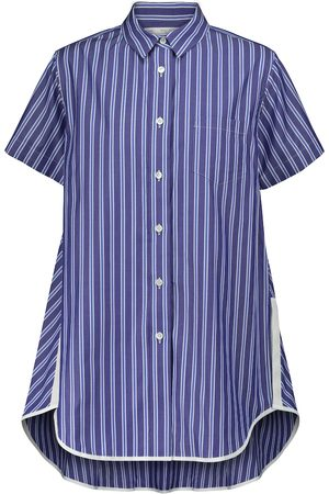 SACAI Striped cotton poplin shirt