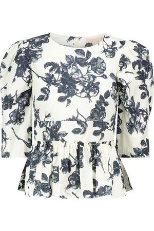 BROCK COLLECTION Sveva floral cotton peplum top