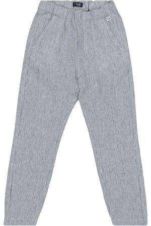 Il gufo Striped linen pants