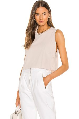 Noam Alex Crop Tee in Nude.