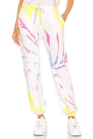MICHAEL STARS X REVOLVE Tie Dye Sweatpants in White,Pink.