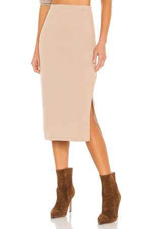 LINE & DOT Cora Knit Skirt in Tan.