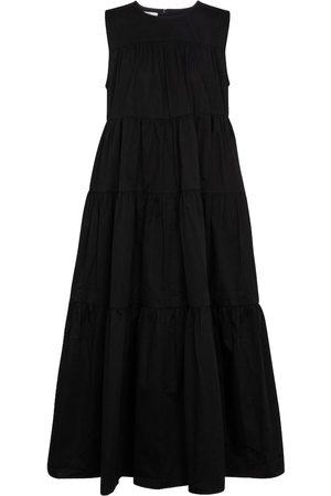CO Tton-poplin midi dress