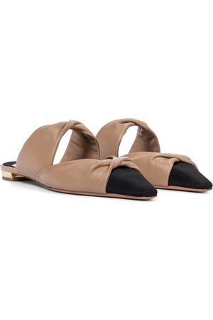 Aquazzura Twist Flat leather mules