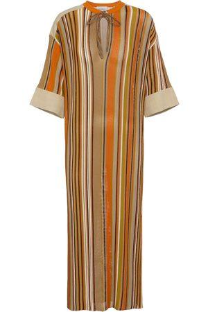 Salvatore Ferragamo Striped midi dress