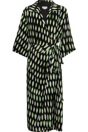 DRIES VAN NOTEN Printed wrap midi dress
