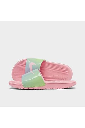 Nike Girls' Big Kids' Kawa SE2 Tie-Dye Slide Sandals in /Arctic Punch Size 4.0 Leather