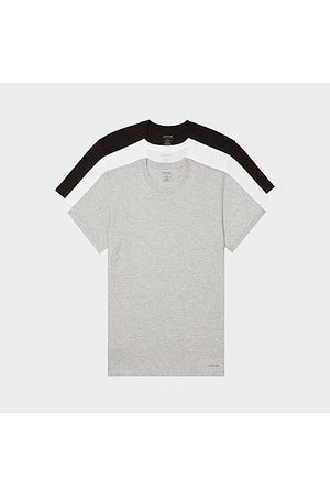 Calvin Klein Men's Classic Fit Crewneck T-Shirts (3 Pack) in /Grey/ /Grey Heather Size Small 100% Cotton/Knit