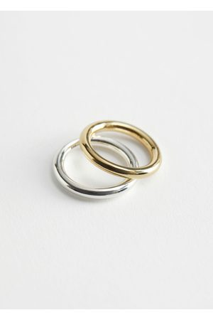 & OTHER STORIES Duo Tone Two Ring Set