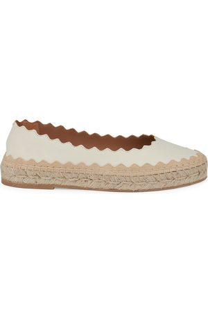 Chloé Women's Lauren Leather Espadrilles - Cloudy - Size 6