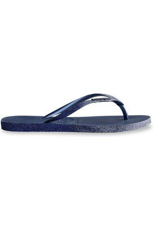 Havaianas Women's Slim Sparkle Flip Flops - Navy - Size 9