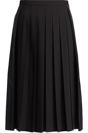 Moncler Women Pleated Skirts - Women's Pleated Nylon Panel A-Line Skirt - - Size 4