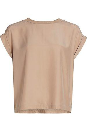 Frame Women's Oversized Silk T-Shirt - Bare Place Holder - Size XL