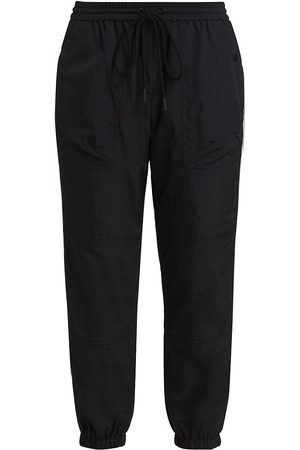 Frame Women's Recycled Nylon Crop Track Pants - Noir Multi - Size XS