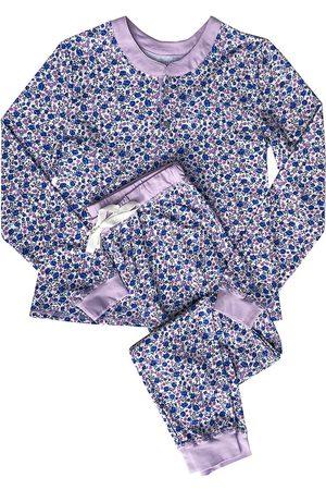 Morgan Lane Women's Kaia 2-Piece Long Pajama Set - Crushed Blueberries - Size XS