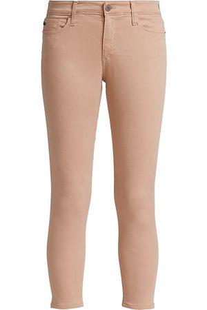 AG Jeans Women's Prima Crop Cigarette-Leg Jeans - Sulfur Infinite Mauve - Size Denim: 30