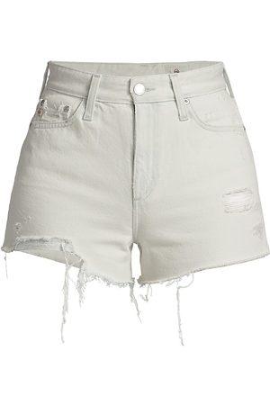 AG Jeans Women Shorts - Women's Alexxis High-Waist Distressed Denim Shorts - Unforgettable - Size Denim: 26