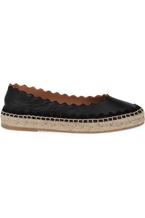 Chloé Women's Lauren Leather Espadrilles - - Size 5
