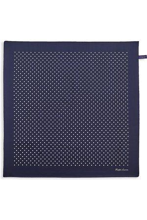 Ralph Lauren Men's Polka Dot Silk Pocket Square - Navy