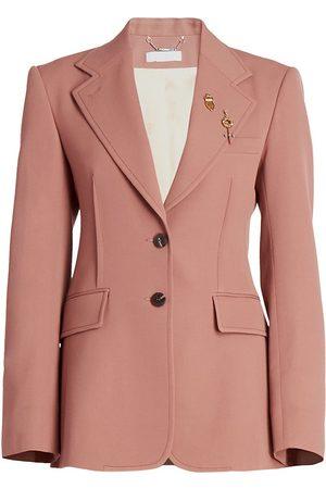 Chloé Women's Light Grain De Poudre Jacket - Amber - Size 10