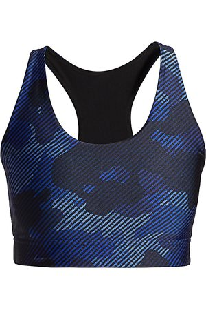 Terez Women's Reversible Printed Sports Bra - Navy Camo - Size Small