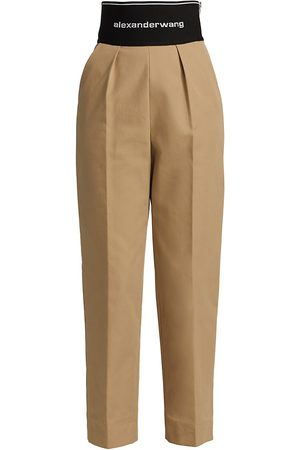 Alexander Wang Women Chinos - Women's Logo Elastic Straight Leg Trousers - Chino - Size 2