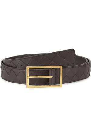 Bottega Veneta Men Belts - Men's Intrecciato Leather Belt - Oak - Size 34