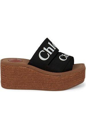 Chloé Women Wedges - Women's Woody Platform Wedge Espadrilles - - Size 7